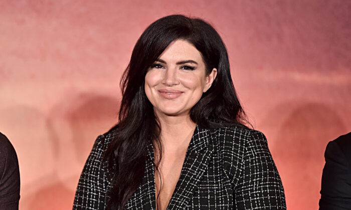 "Actress Gina Carano of Lucasfilm's ""The Mandalorian"" at the Disney+ Global Press Day in Los Angeles, Calif., on Oct. 19, 2019. (Alberto E. Rodriguez/Getty Images for Disney)"