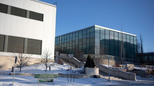 The Vaccine and infectious Disease Organization, a possible home for a Canadian-produced vaccine for COVID-19, is shown at the University of Saskatchewan in Saskatoon, Sask. on February 5, 2021. (Kayle Neis/The Canadian Press)