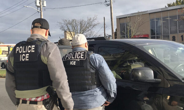 ICE agents apprehend individuals with prior criminal convictions ranging from sexual abuse to rape, in Long Island, N.Y., on Nov. 4, 2019. (ICE)