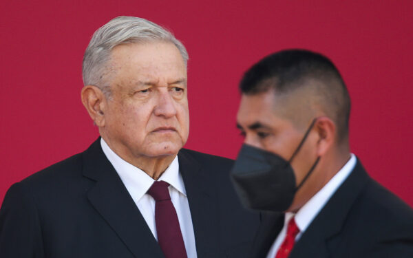 Mexican President Andres Manuel Lopez Obrador attends the 108th anniversary of the loyalty march in Mexico City