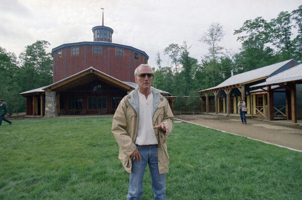 Actor Paul Newman arrives the camp