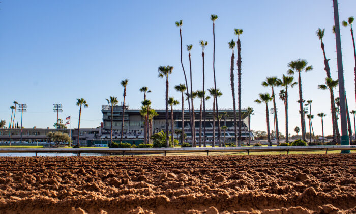 Los Alamitos Race Course in Los Alamitos, Calif., on Jan. 21, 2021. (John Fredricks/The Epoch Times)