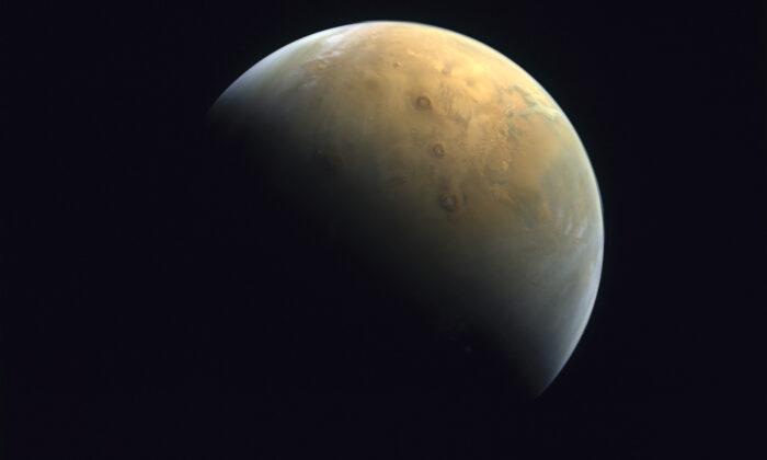 Mars on Feb. 10, 2021. (Mohammed bin Rashid Space Center/UAE Space Agency via AP)