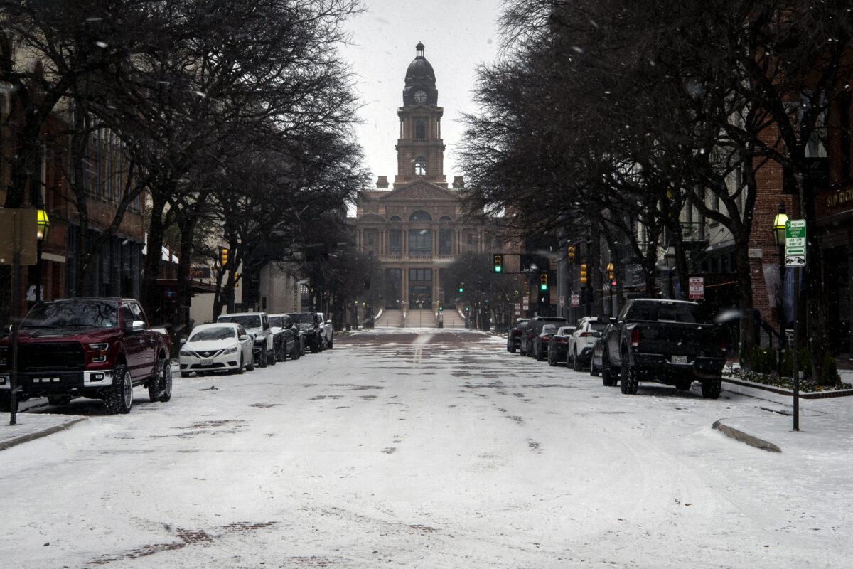 Texas snow storm