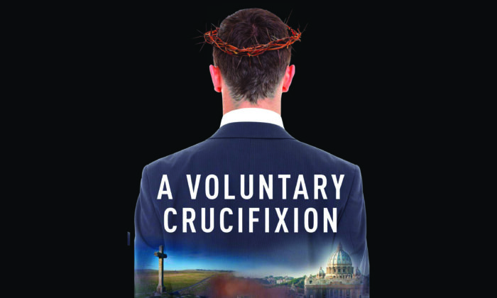 """Cover of """"A Voluntary Crucifixion"""" by David J. MacKinnon."""