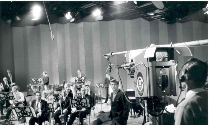 Classical music was once popular enough to warrant television broadcasts. Leonard Bernstein with members of the New York Philharmonic rehearsing for a television broadcast. (Infrogmation/CC-BY-SA-2.5)