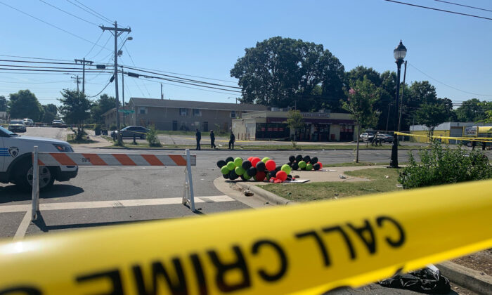 Police tape is seen near the scene of a shooting in a file photo. (Sarah Blake Morgan/AP Photo)