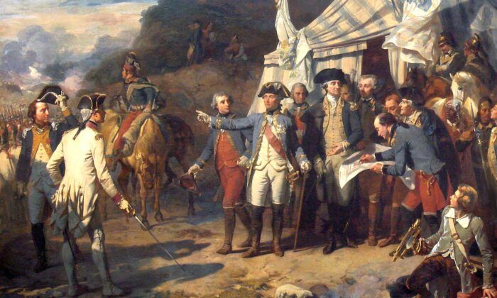 """The """"Siege of Yorktown (1781)"""" painting by Auguste Couder. (Public Domain)"""