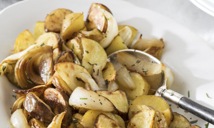 Boiled or baked potatoes are a low- calorie, nutrient- dense, and filling food.(Helen Norman/TNS)
