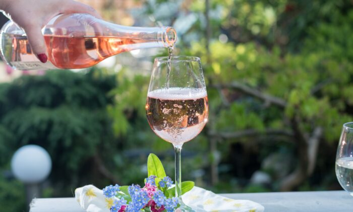 Rose wines are typically among the first new wine releases of spring, a sign of warmer days to come. (Shutterstock/barmalini)
