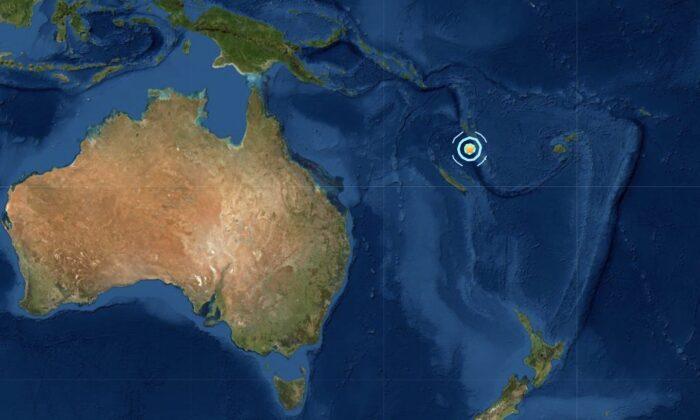 Strong earthquake strikes Vanuatu on Feb. 16, 2021. (Screenshot/USGS)