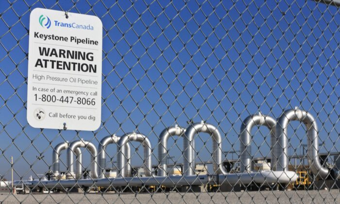 The Keystone Steele City pumping station, where the planned Keystone XL pipeline was to connect to, in Steele City, Nebraska, in a file photo. (The Canadian Press/AP/Nati Harnik, File)