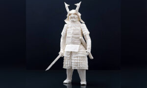 Finnish Origami Artist Creates Incredibly Detailed Samurai Warriors That Take 3 Months to Complete