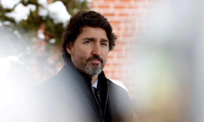 Prime Minister Justin Trudeau attends a news conference at Rideau Cottage in Ottawa, on January 5, 2021. (Blair Gable/File Photo/Reuters)