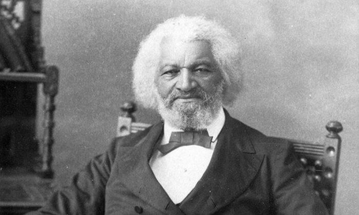American orator, abolitionist, writer, and escaped slave, Frederick Douglass (1817–1895), circa 1880. (MPI/Getty Images)