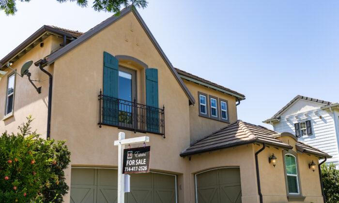 A house for sale in Irvine, Calif., on Sept. 21, 2020. (John Fredricks/The Epoch Times)