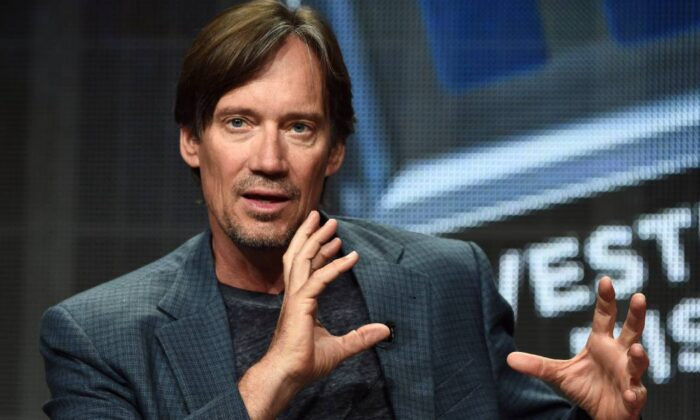 Kevin Sorbo speaks during the Discovery Communications TCA Panel at the Beverly Hilton in Beverly Hills, Calif. on July 9, 2014. (Amanda Edwards/Getty Images for Discovery Communications)