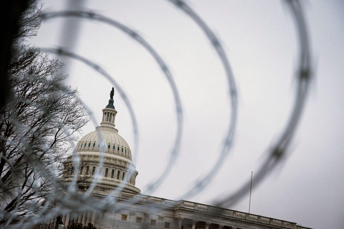 fence around capitol