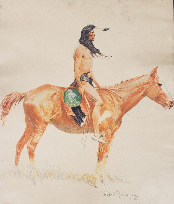 Cheyenne Scout - Frederic Remington 1901 lithograph