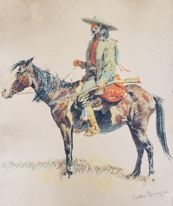 The Trapper - Frederic Remington 1901 lithograph