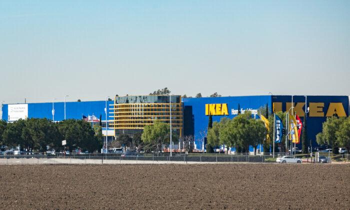 An IKEA store in Costa Mesa, Calif., on Feb. 19, 2021. (John Fredricks/The Epoch Times)
