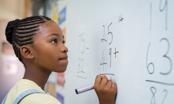 For students to gain a solid understanding of math, schools must place a strong emphasis on mastering basic skills in addition, subtraction, multiplication, and division. (Rido/Shutterstock)