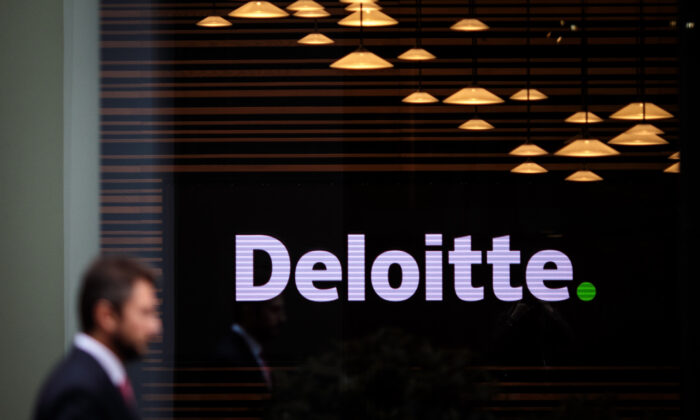 The Deloitte offices stand in 2 New Square in London, on Oct. 2, 2018. (Jack Taylor/Getty Images)