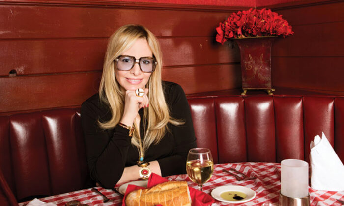 Alison Martino, creator of the Vintage Los Angeles online community, sits for a meal in a vintage restaurant. (Courtesy of Alison Martino)