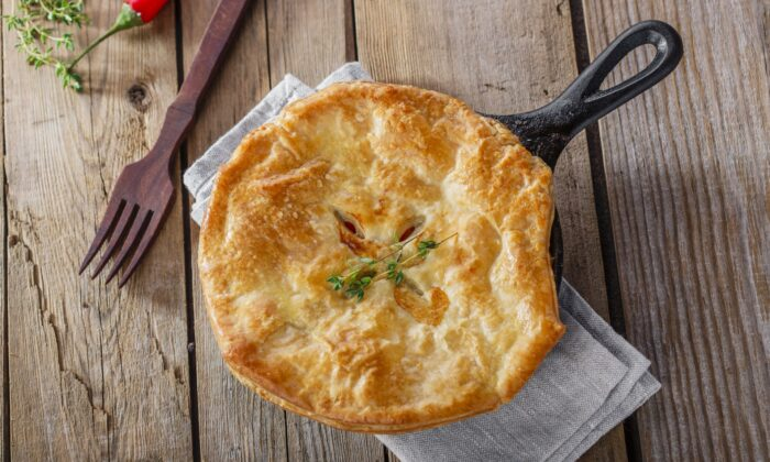 Frozen puff pastry and cooked chicken or turkey breast help this recipe come together quickly. (shutterstock/koss13)