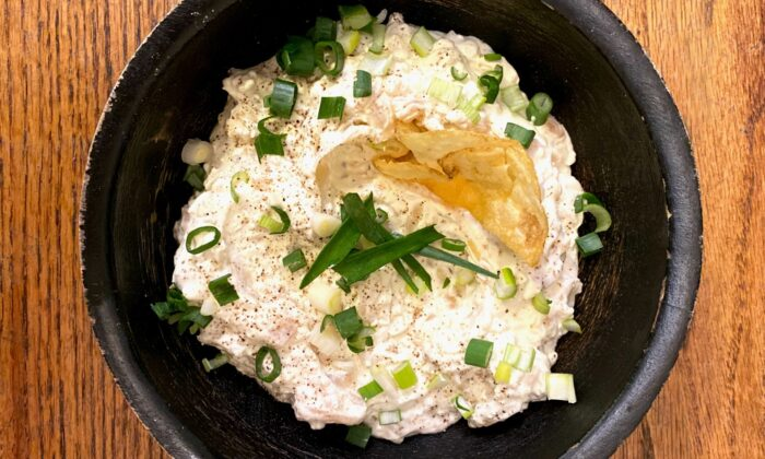 This easy dip has triple the allium power: from yellow onion, shallots, and scallions. (Lynda Balslev for Tastefood)
