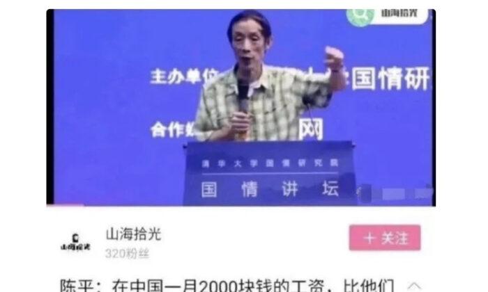 Fudan University professor Chen Ping. (Screenshot)