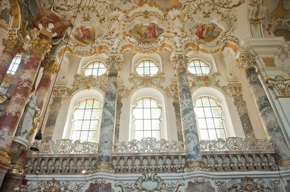 World,Heritage,Of,Wieskirche,Church,In,Bavaria,germany,europe.