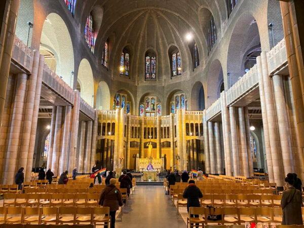 a mass in the Belgium's national Koekelberg basilica