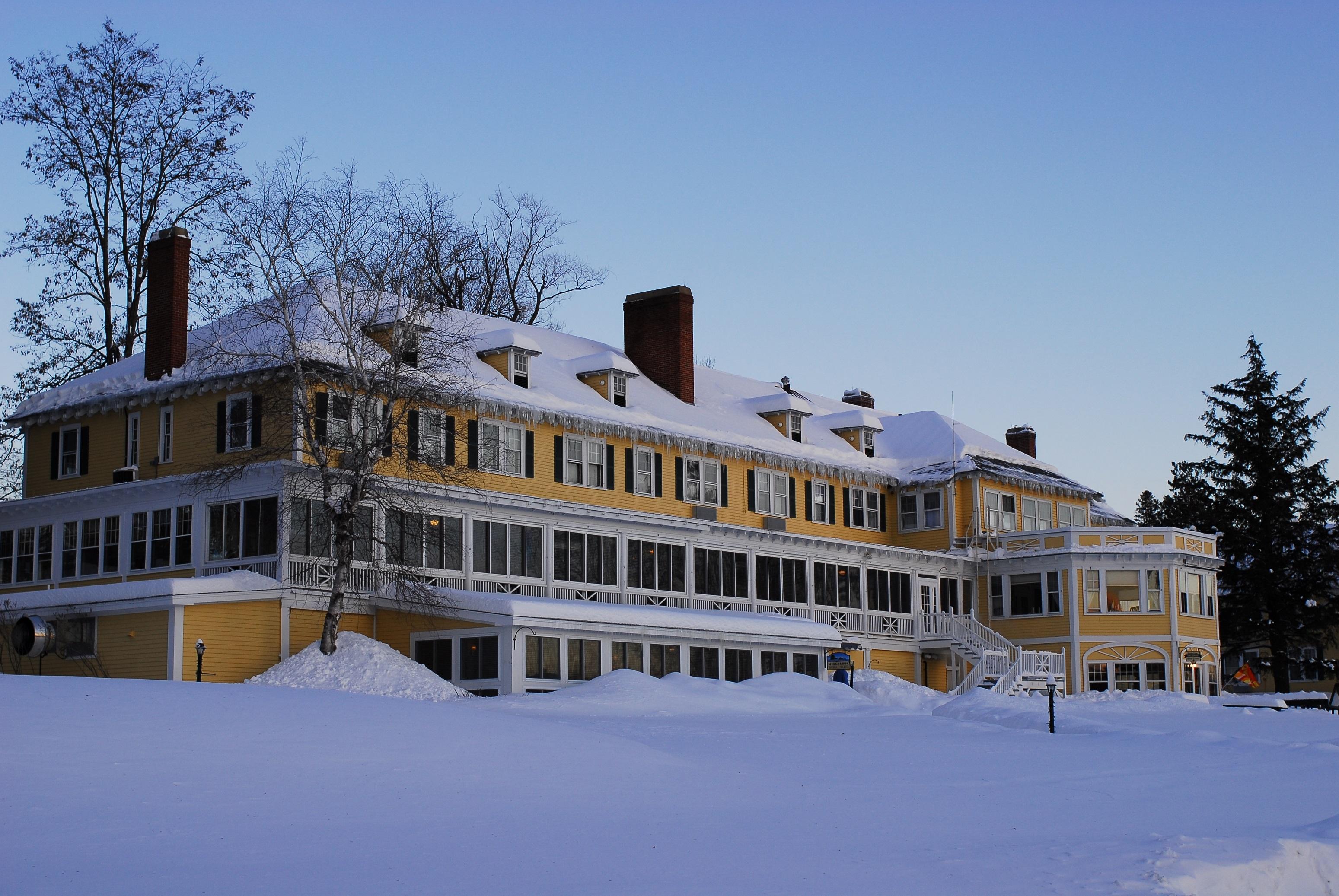 Back of Inn Winter