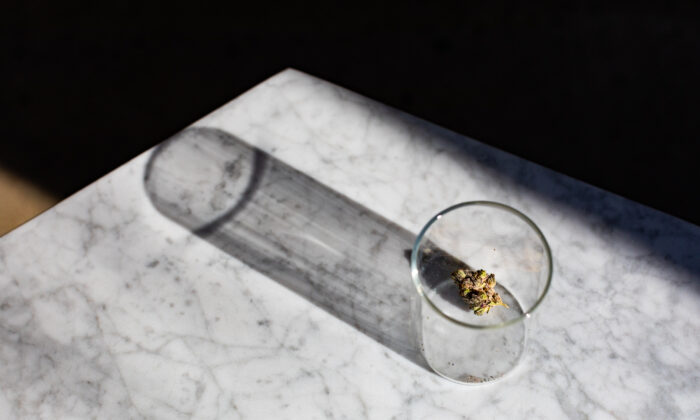 A marijuana sample from the Catalyst Cannabis Company in Santa Ana, Calif., on Feb. 18, 2021. (John Fredricks/The Epoch Times)