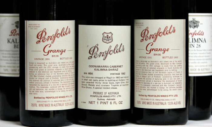 A poor imitation of Penfolds has been found  in China. (Greg Wood/Getty Images)