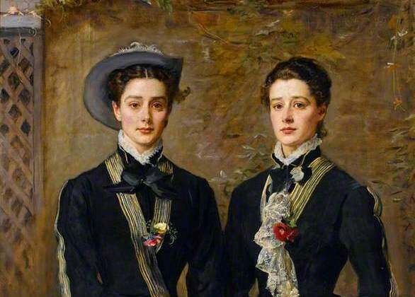 "While truth and lies can look the same, they are like identical twins, that can be very different indeed, as the painting A detail from ""The Twins, Kate and Grace Hoare"" (1876), by John Everett Millais, suggests. The Fitzwilliam Museum. (PD-US)"