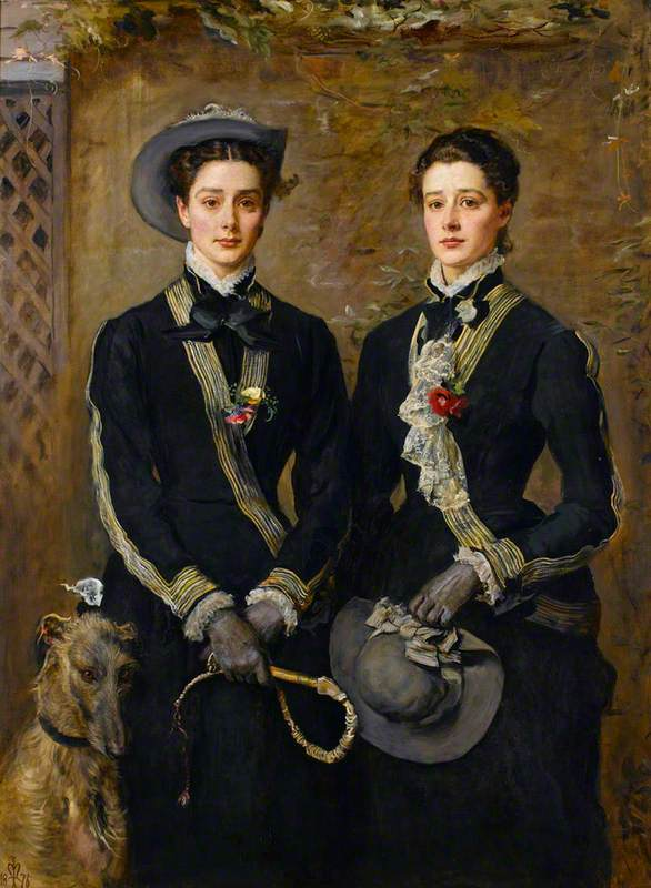 Millais, John Everett, 1829-1896; The Twins, Kate and Grace Hoare