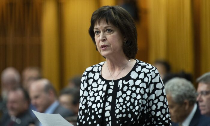 Liberal MP Pam Damoff responds to a question during Question Period in the House of Commons in Ottawa, Canada, on May 9, 2019. (Adrian Wyld/The Canadian Press)