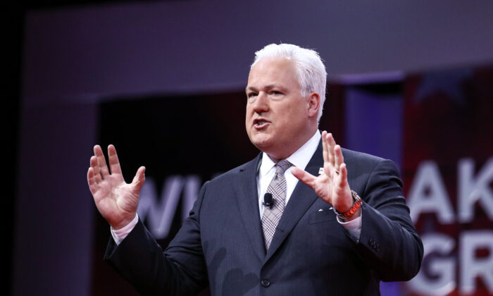 Matt Schlapp, chairman of the American Conservative Union, which organizes the CPAC convention, at the convention in National Harbor, Md., on Feb. 28, 2019. (Charlotte Cuthbertson/The Epoch Times)