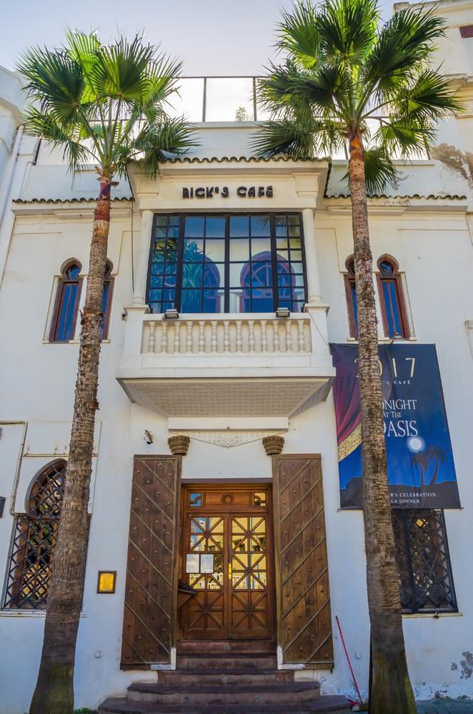 Casablanca,,Morocco,-,October,20,,2017:,Facade,Of,Rick's,Cafe,