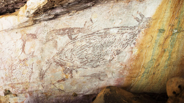 Australia's oldest known rock shelter painting
