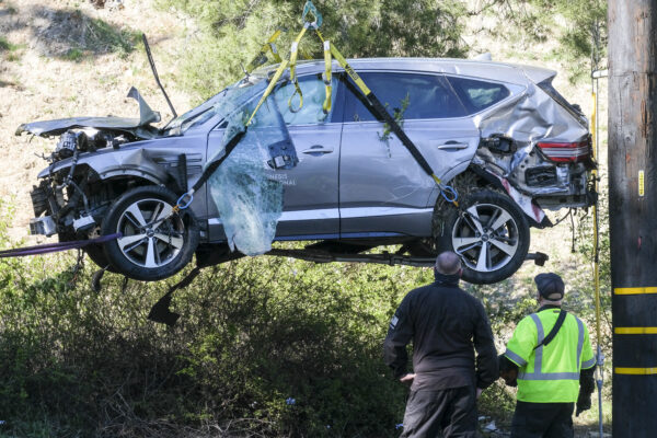 lift Woods' vehicle