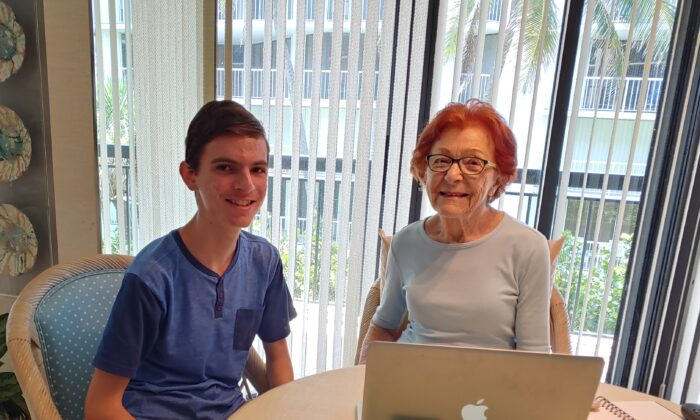 Sam Friedman (L) founded South Florida Tech for Seniors in 2019. (Courtesy of Sam Friedman)