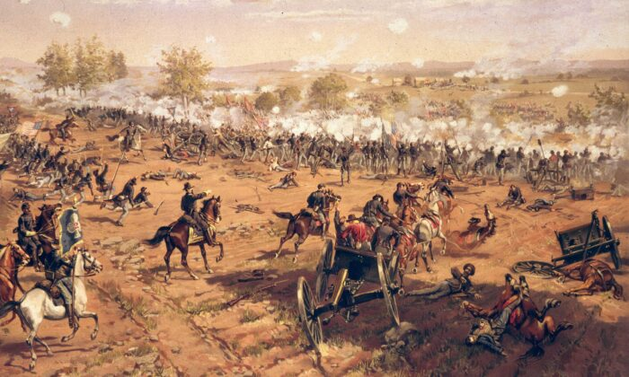 The Battle of Gettysburg in Pennsylvania on July 1863. (MPI/Getty Images)
