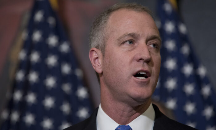Rep. Sean Patrick Maloney (D-N.Y.) speaks at a press conference introducing the Equality Act on Capitol Hill in Washington on May 2, 2017. The 2021 version of the bill was passed by the House on Feb. 25. (Aaron P. Bernstein/Getty Images)