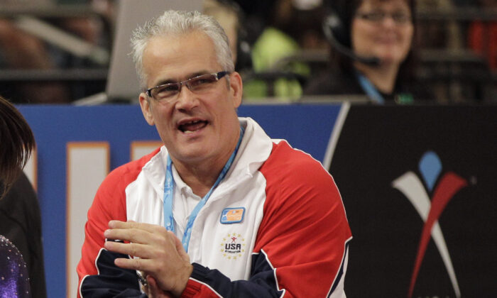 Gymnastics coach John Geddert is seen at the American Cup gymnastics meet at Madison Square Garden in New York on March 3, 2012. (Kathy Willens/AP Photo)