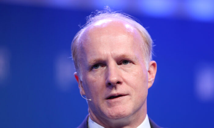 Mark Machin, then-president and CEO, Canada Pension Plan Investment Board, speaks at the 2019 Milken Institute Global Conference in Beverly Hills, California, U.S., April 29, 2019. (Lucy Nicholson/Reuters)