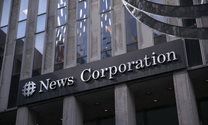 The News Corp. building on 6th Avenue, home to Fox News, the New York Post and the Wall Street Journal in New York City, N.Y., on March 20, 2019. (Kevin Hagen/Getty Images)