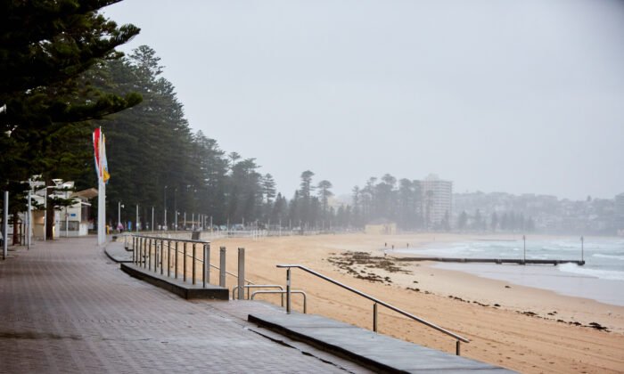 An empty Manly beachfront is seen on December 19, 2020 in Sydney, Australia.(Lee Hulsman/Getty Images)